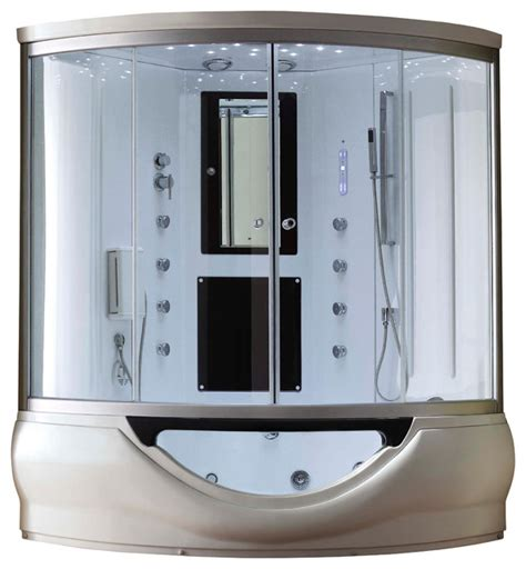 bathtub shower combo units eagle bath 59 inch steam shower enclosure with whirlpool