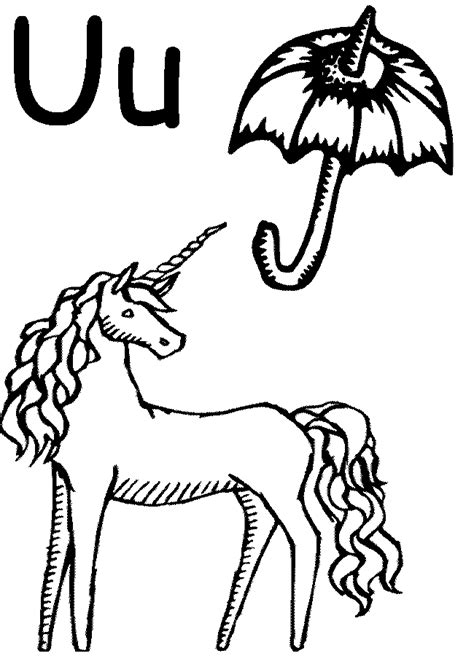 U Coloring Pages Free by Letter U Coloring Page Coloring Home