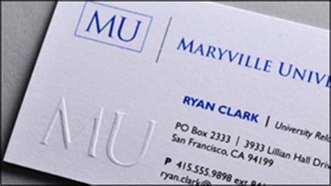 Raised Lettering Business Cards