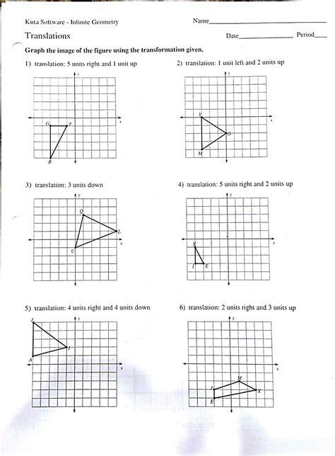 translation rotation reflection worksheet reflection rotation translation worksheet worksheets