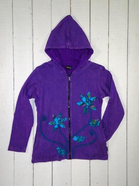 Applique Hooded Zip Jacket cotton rib cotton lined hooded zip jacket with applique