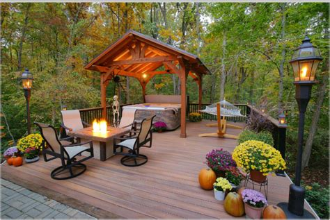 Small Backyard Decks Patios Cool Deck Design Ideas To Improve Your Outdoor Living Space