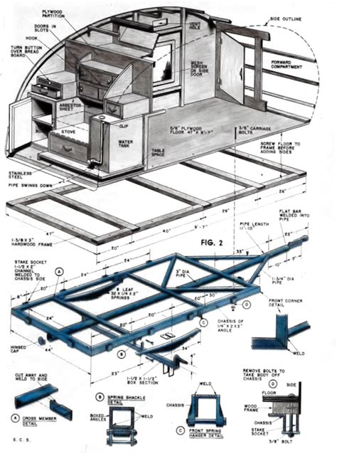 Teardrop Trailer Floor Plans | missouri teardrop trailers