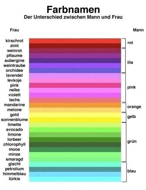 funny color names color in the german language and by gender repinned