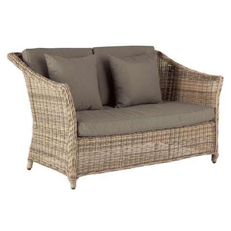 rattan 2 seater sofa 2 seater outdoor sofa new england oka