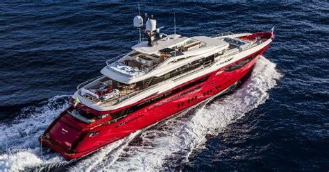 yacht boat red motor yacht ipanema mondomarine yacht harbour