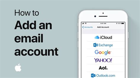 add  email account  mail   iphone ipad  ipod touch apple support youtube