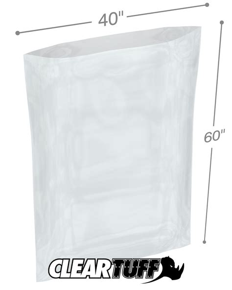 Polybag Polibag 40 X 40 40 quot x 60 quot 2 mil poly bags