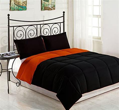 dark orange comforter cozy beddings reversible down alternative comforter set