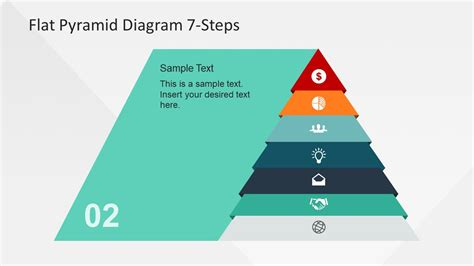 Presentation Of 7 Step Hierarchy Model Slidemodel Hierarchy Pyramid Template