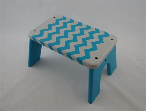 Gray Stool Toddler by Zigzag Print Step Stool Blue And Gray Wooden Mdf Stool