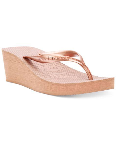 Wedge Flip Flops lyst havaianas s high fashion wedge flip flops in pink