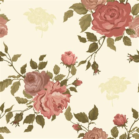 flower pattern vintage free download vintage flower vector patterns 02 free download