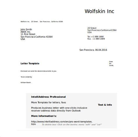 formal business letter format templates sample