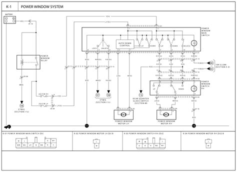 2001 kia sportage power window wiring diagram wiring