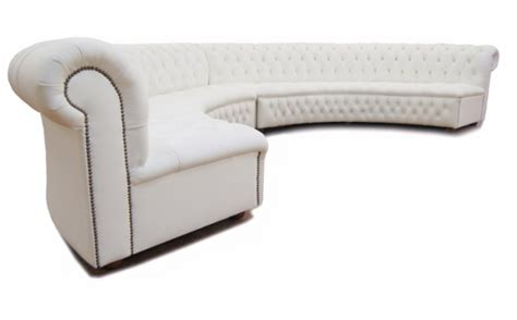 chesterfield sofa curved white contemporary furniture hire for theming events