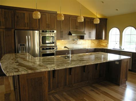 Yellow Painted Kitchens - finished walnut kitchen