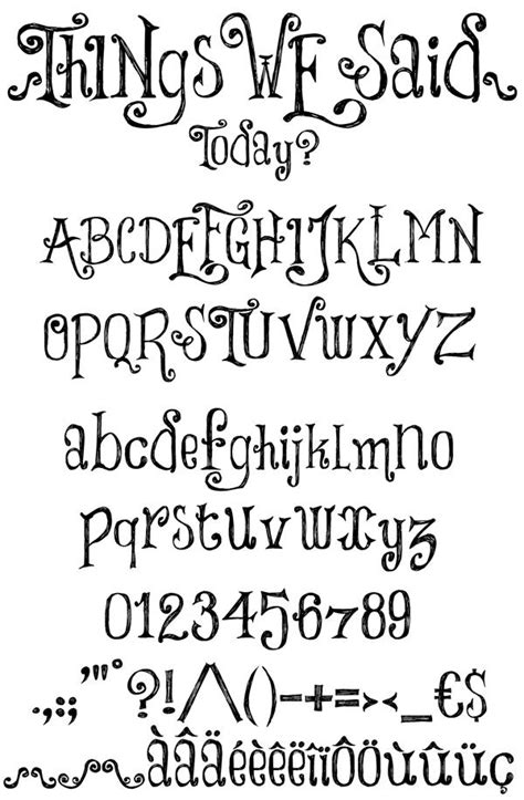 printable hand lettering fonts free number fonts things we said font by imagex
