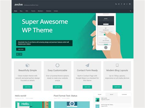 themes wordpress evolve theme directory free wordpress themes