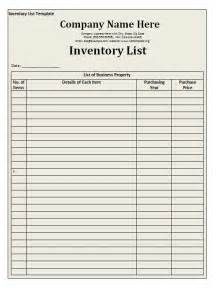 inventory templates inventory list template free word templates