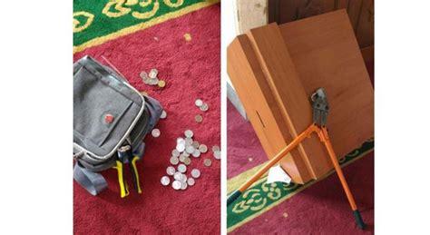 Tas Pancing Kecil maling kotak amal masjid gagal beraksi berkat cctv