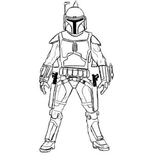 star wars coloring page boba fett az coloring pages