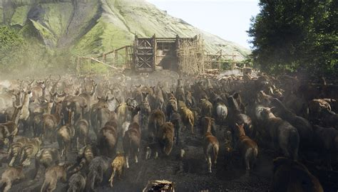 No Real Animals Aboard Hollywood Noah S Ark Noah S Ark While Animals Are Going To The Ark Drawing With Color