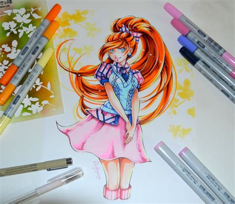 painting winx club bloom from winx club by lighane on deviantart