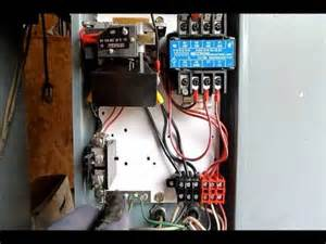 how magnetic motor starters work youtube