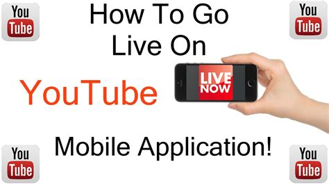 how to go live on mobile app