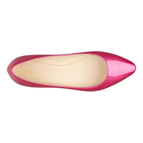 Flat Shoes Ambassador Pink lyst nine west speakup pointytoe flats pointed toe flat in pink