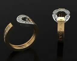 bvlgari ring 070 3d model stl 3dm print ready jewelry 3d print models 3d files