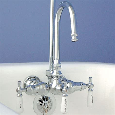 bathtub faucet to shower converter gooseneck clawfoot tub shower conversion kit clawfoot