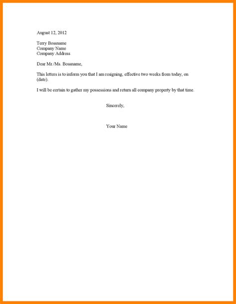 How To Make A Resignation Paper - 4 letter 2 weeks notice ledger paper