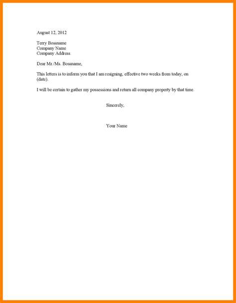 4 letter 2 weeks notice ledger paper