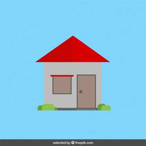 house in flat design vector free