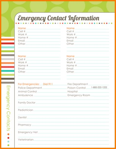 emergency contact template authorization letter