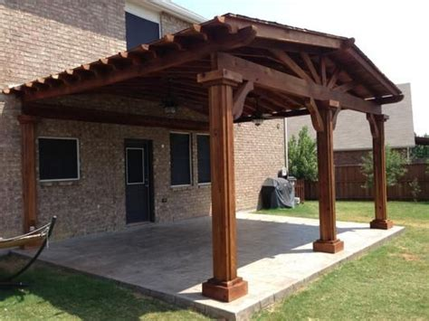 Attached Patio Cover Plans by Attached Patio Cover Back Yard Ideas