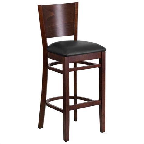 upholstered kitchen bar stools 43 5 quot upholstered restaurant bar stool in walnut and black
