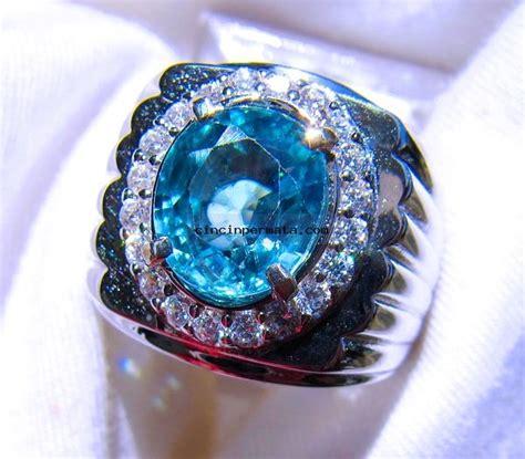 Cincin Blue cincin blue zircon bersertifikat cincinpermata