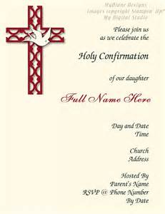 free printable confirmation invitations template mydiane designs confirmation invitation
