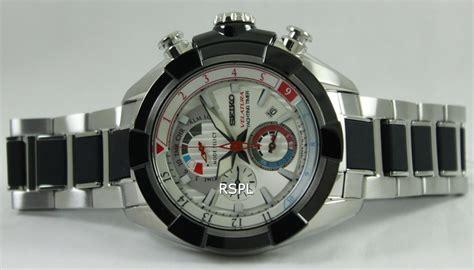 Seiko Velatura Silver Black seiko velatura yachting timer chronograph spc145p1 spc145p