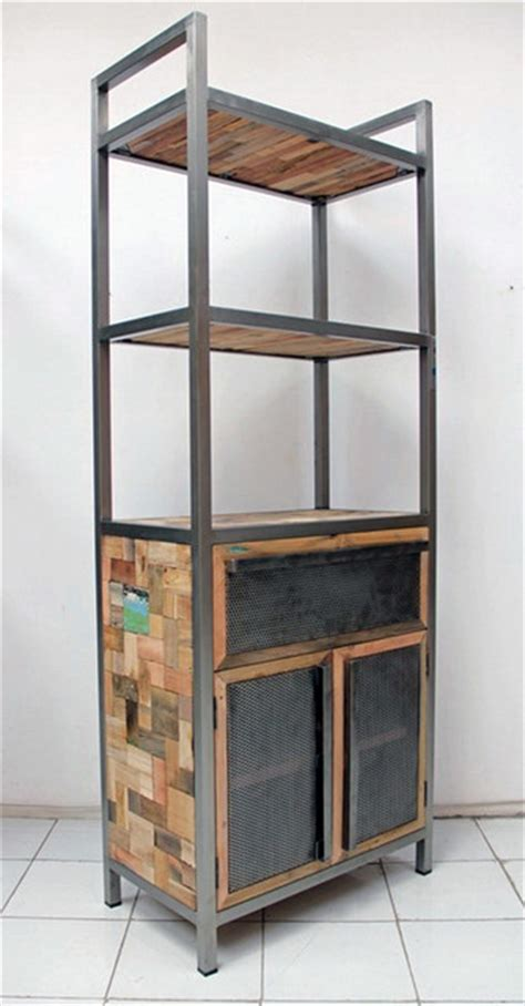 industrial style bookcase with storage industrial