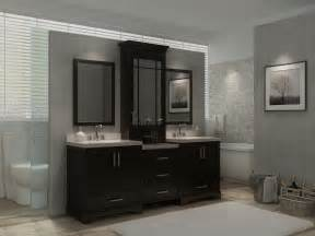 bathroom vanity hutch cabinets ariel stafford 85 quot sink vanity set in espresso w