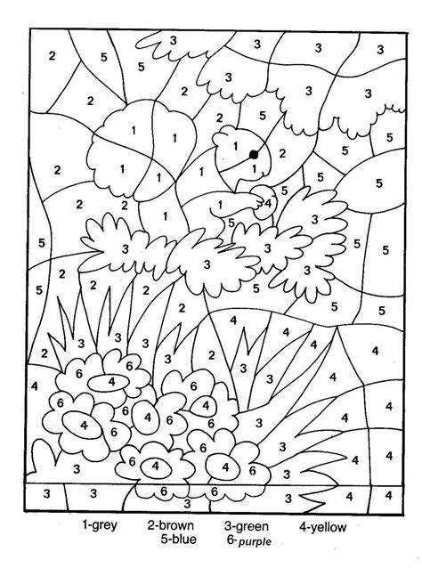 Coloring Pages Hidden Numbers | hidden picture color by number activity shelter