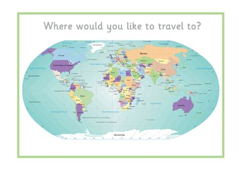 map world ks1 printable world map free early years primary teaching