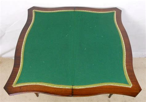leather top writing sold leather top writing card table