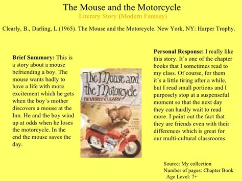 the mouse and the motorcycle book report story bank