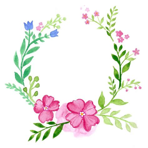flower design facebook wreath floral watercolour greeting 183 free photo on pixabay