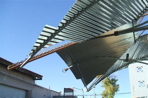 Corrugated Awning by Corrugated Metal Awning Influenced By Architecture